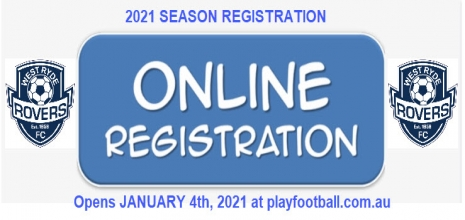 Online Registration Opens - January 4th, 2021